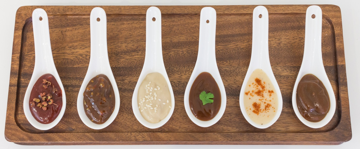 Sauce - Various (presented on spoons